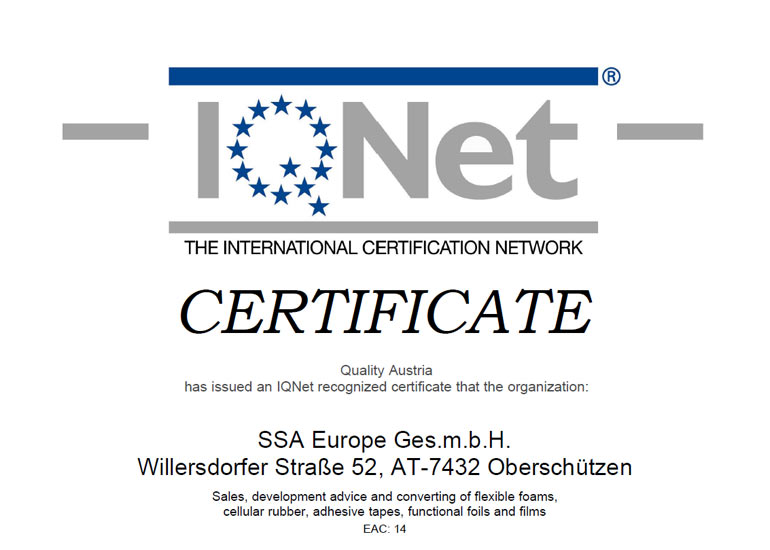 Certificate IQnet english