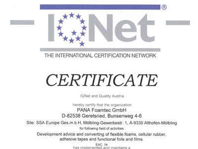 Certificate IQnet english
