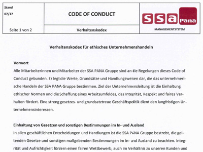 Code of Conduct SSA PANA Group